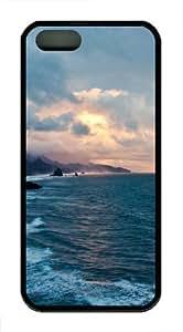 Oregon Coast Sunset TPU Silicone Case Cover for iPhone 5/5S Black