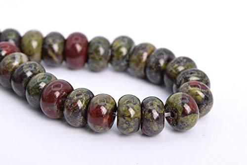 Rainbow Jasper Gemstone - 8x5MM Natural Dragon Blood Jasper Beads AAA Rondelle Gemstone Loose Beads 7.5