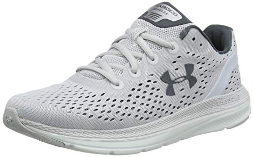 Under Armour Women's Charged Impulse, Halo Gray (101)/White, 7