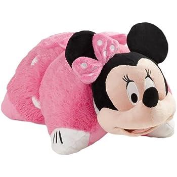 pillow pets authentic disney 18 minnie mouse folding plush pillow large home. Black Bedroom Furniture Sets. Home Design Ideas
