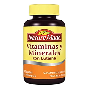 Nature Made Minerals and Vitamins with Lutein, 150 Tablets-Vitaminas y Minerales con Luteina