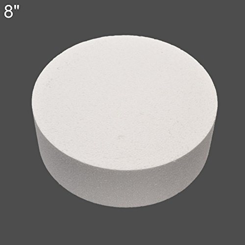 Aland 4/6/8inch Round Styrofoam Foam Cake Dummy Sugarcraft Flower Decor Practice Model 8