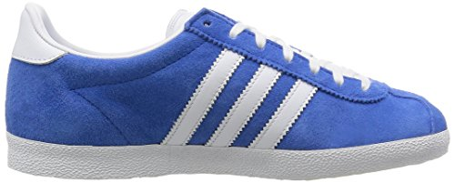 adidas Gazelle OG Unisex-Erwachsene Sneakers Blau (Air Force Blue/White/Metallic Gold)