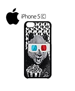 3D Glasses Panda Cinema Popcorn Mobile Cell Phone Case Cover iPhone 5c Black