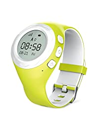 LinTimes G2 SmartWatch Wrist Phone for Kids GPS LBS Tracking Green