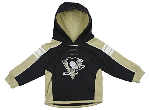 NHL Pittsburgh Penguins Little Boys Toddler Pullover Team Jersey Hoodie, Black