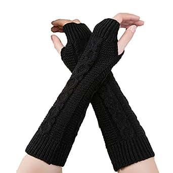 Amazon.com: Leoy88 Women's Hemp Pattern Gloves Fingerless