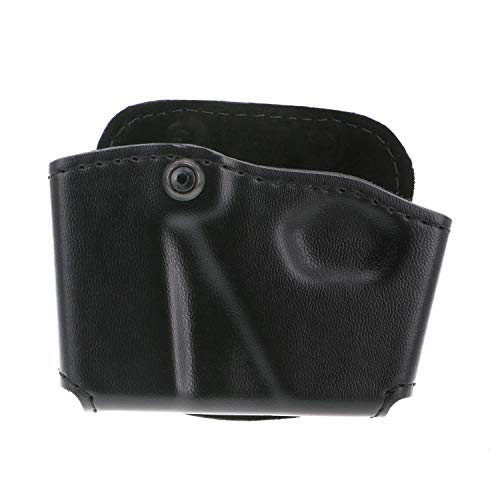 Safariland 573 Glock 17 22 Open Top Paddle Magazine Pouch with Handcuff Case (Plain Black, Right Hand)