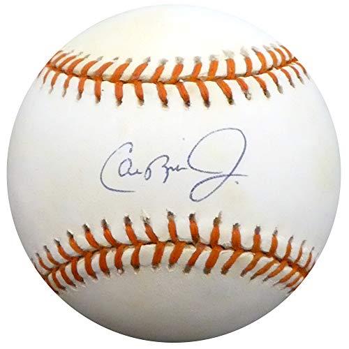 - Cal Ripken Jr. Autographed Official AL Baseball Baltimore Orioles Ripken 2131 Consecutive Game Logo Beckett BAS #F98607