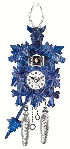 【即納&大特価】 ブラックフォレストTraditionalスタイル1日ブルーCuckoo Clock with Leaves and Hand Stags Head and with Leaves B01ISCSI0A, 湘南ワインセラー:ad6d99a5 --- egreensolutions.ca
