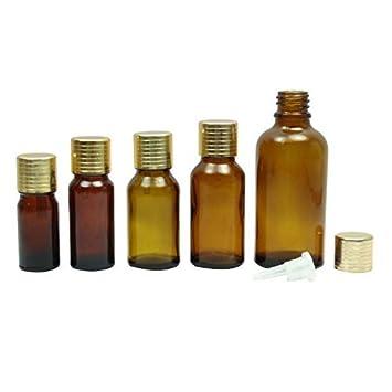 9f91fad18f7a Amazon.com : Lot Of 50 Empty Amber Glass Euro Dropper Bottles ...