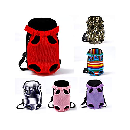 - dunical Pet Dog Carrier Backpack Outdoor Fashion Red Color Travel Breathable Mesh Shoulder Handle Bags for Small Dog Cats Chihuahua,Black,for 0-2.5kg