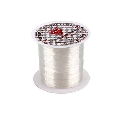 SENZEAL 2x 0,3 mm Durchmesser Angelschnur Klar Nylon 100 meter Schmuckfaden Basteln Faden Monoschnur