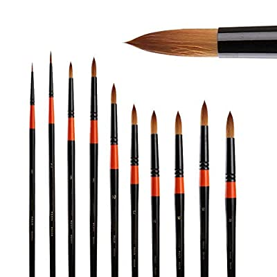 BGcrsl Detail Paint Brushes Set 11pcs Miniature Brushes for Fine Detailing Art Painting Acrylic Nail Detail Painting