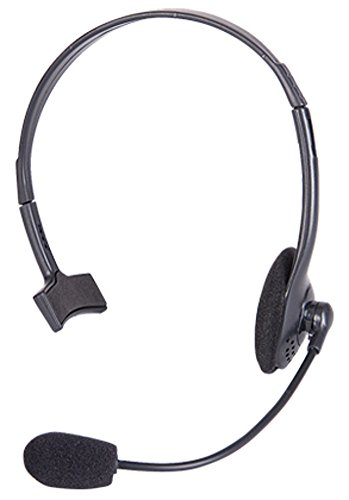 Pop Singer Telemarketer Pit Crew Microphone Headset Costume Accessory Black -