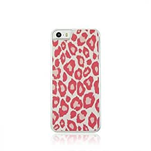 Mini - Leopard Print Leather Vein Pattern PC Hard Case for iPhone 5/5S