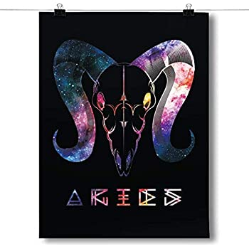 Inspired Posters - Cosmic Zodiac - Aries Decorative Wall Art Poster - Modern Home Decor - Motivational Posters - UV Print 18 x 24 Poster