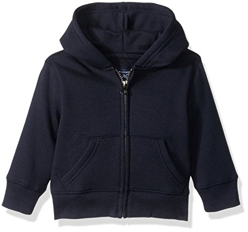 The Children's Place Baby Boys' Gym Uniform Hoodie, New Navy, 12-18 Months - Blue Infant Sweatshirt