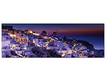 Xxl Leinwandbilder Gunstig ~ Panorama bild xxl cm top bilder santorini griechenland