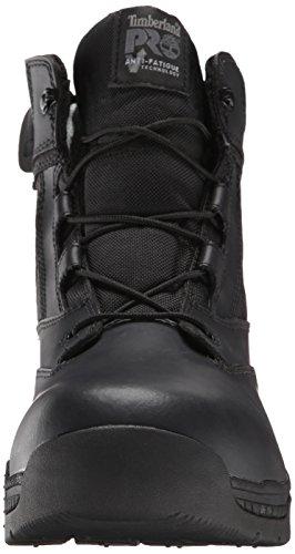 Timberland Pro Mens 6 Valor Soft-Toe Side-Zip Work Boot Black