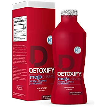 Detoxify Mega Clean NT Herbal Cleanse – Tropical Flavor– 32 oz |  Professionally Formulated Herbal Detox