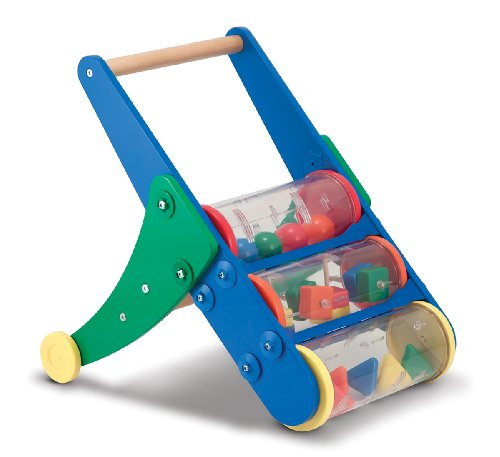 Melissa And Doug Rattle Rumble Wooden Push Toy And Activity Walker