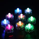 Set of 12 Submersible Led Light, Waterproof Underwater Wedding Tealight, Multi-Color Changing Light, Batteries Included