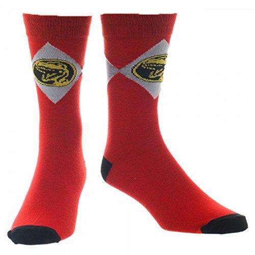 (Red Power Ranger Crew Sock)