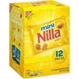 Mini Nilla Wafers, 1 oz, 12 Count, Enjoy a Sweet Treat Made With Artificial And Natural Flavors
