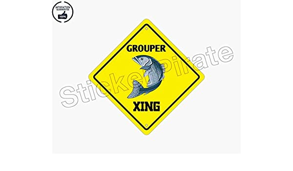 Amazoncom Grouper Crossing Funny Aluminum Metal Plate Gift Sign