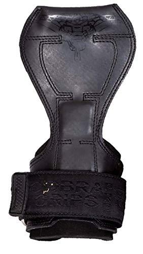 Cobra Grips PRO Weight Lifting Gloves Heavy Duty Straps Alternative Power Lifting Hooks Best for Deadlifts Adjustable Neoprene Padded Wrist Wraps Support Bodybuilding (FIT Jet Black Rubber)