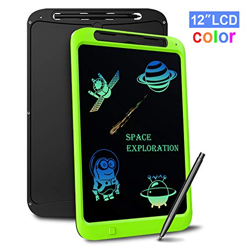 LCD Writing Tablet, Richgv 12 Inch Digital Ewriter Electronic Graphics Tablet Portable Mini Board Handwriting Pad Drawing Tablet with Memory Lock Suitable for Kids Home School Office