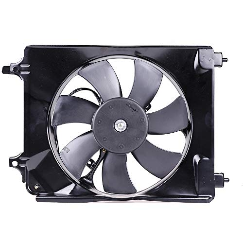 SCITOO Radiator AC A/C Condenser Cooling Fan Assembly Compatible with 2006-2011 Honda - Fan Honda A/c Condenser