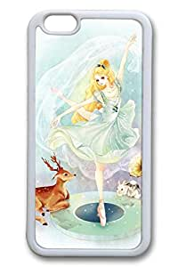 Anime Girl Ballet Cute Hard Cover For iPhone 6 Plus Case ( 5.5 inch ) TPU White Cases by Maris's Diary