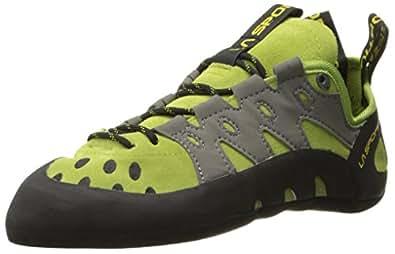 La Sportiva Men's TarantuLace Performance Rock Climbing Shoe, Kiwi/Grey, 34 M EU
