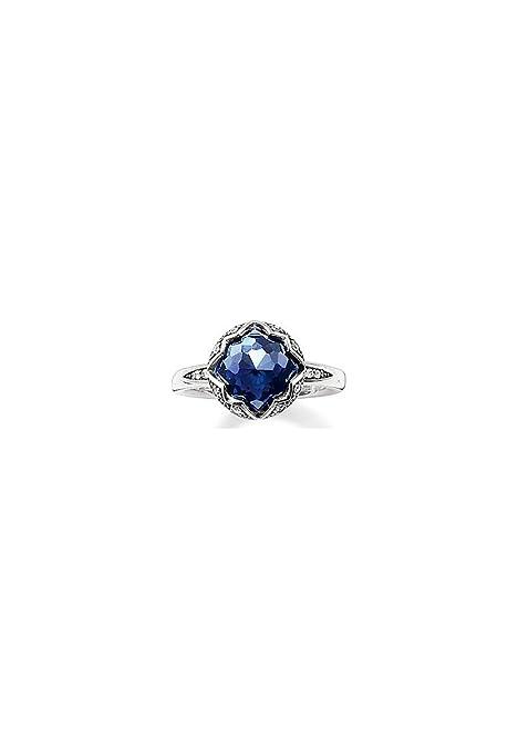 Korund dunkelblau TR2036-048-32 Thomas Sabo Ring syn