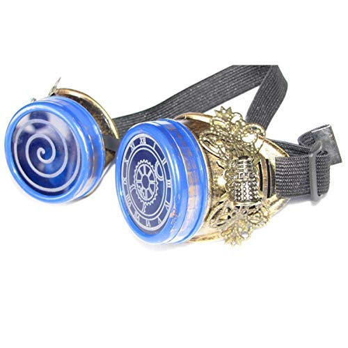 Custom Whovian Steampunk goggles cosplay costume by Steampunk Wolf Shop