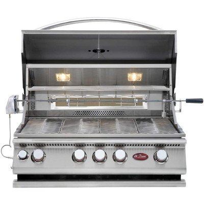 Built-In 4-Burner Convection Gas Grill with Rotisserie
