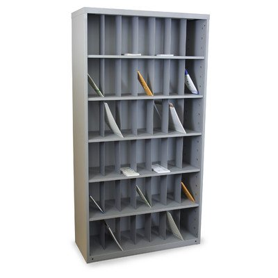 Mailroom Vertical Sorter with 42 Pockets Finish: Slate Gray