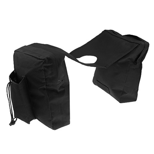 (Dovewill Saddle Bags Storage Organizer Canvas Waterproof ATV Tank Bags - Black)