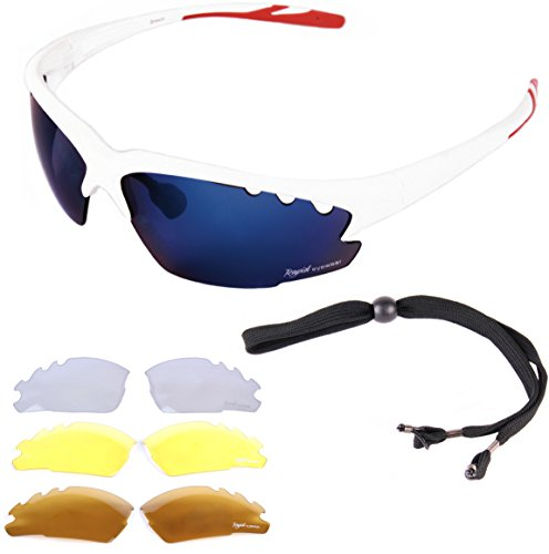 15f060725317 Rapid Eyewear White CYCLING SUNGLASSES for Men   Women With Interchangeable  Mirror