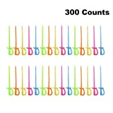 "Comicfs Plastic Cocktail Picks 3.5"" Fruit Toothpicks Sandwich Appetizer Cocktail Sticks Party Supplies 300 Counts, Plastic Sword Cocktail Picks-26"