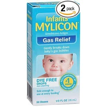INFANTS/' MYLICON GAS RELIEF DYE FREE DROPS Helps with colic Lot of 3 300 doses