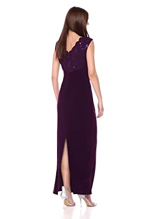 Alex Evenings Womens Petite Asymmetric Empire Waist Dress with Side Ruching Regular Sizes