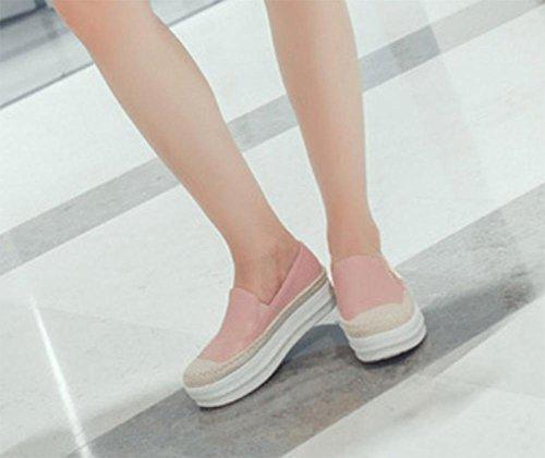 escoge los zapatos del elevador zapatos de la señora de primavera y otoño mujeres ocasionales mollete zapatos gruesos de la corteza Sra zapatos planos , US5.5 / EU35 / UK3.5 / CN35
