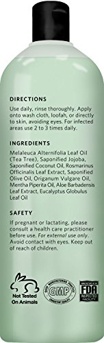 Antifungal Tea Tree Oil Body Wash Peppermint Eucalyptus Oil Antibacterial Soap By Natural Riches 12 Oz Helps Athletes Foot Eczema Ringworm Toenail Fungus Jock Itch Body Itch Body Odor Acne