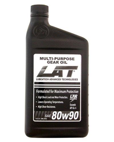 LAT 31237 (80W-90) Heavy Duty Multi-Purpose Gear Oil - 1 Quart, (Pack of 12)