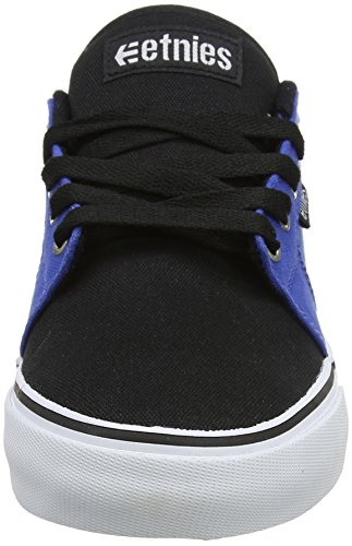 Etnies Barge LS Skateboarding scarpe, nero/nero/Gum, (8.5m) US, blu (Blue (Black/Blue/White)), 46