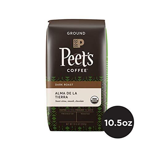 Peet's Coffee Alma de la Tierra Dark Roast Ground Coffee Organic, 10.5 Ounce Bag USDA Organic