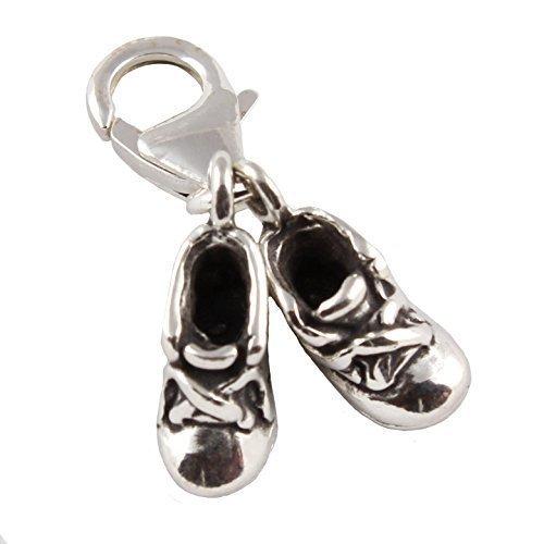 Argent 925//1000-Chaussure B/éb/é-Breloque /à fermoir mousqueton avec 11 mm